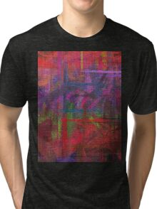 Abstract painted canvas Tri-blend T-Shirt