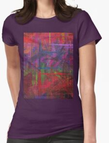 Abstract painted canvas Womens Fitted T-Shirt