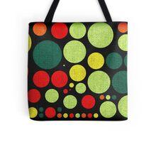 Abstract polka dot painted canvas Tote Bag