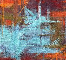 Abstract painted canvas #2 by Nhan Ngo