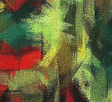 Abstract painted canvas #3 by Nhan Ngo