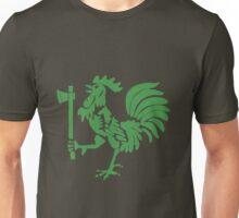Kenyan Court of Arms Cockerel with Axe - Green Unisex T-Shirt