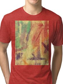 Abstract painted canvas #4 Tri-blend T-Shirt