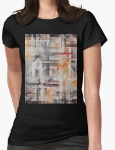 Abstract painted canvas #5 Womens Fitted T-Shirt