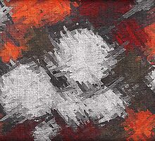 Abstract painted canvas #6 by Nhan Ngo