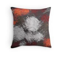 Abstract painted canvas #6 Throw Pillow