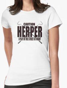 CAUTION HERPER Womens Fitted T-Shirt