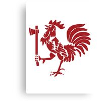 Kenyan Court of Arms Cockerel with Axe - Red Canvas Print