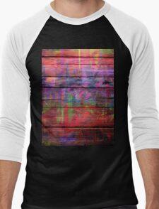 Abstract painted wood Men's Baseball ¾ T-Shirt
