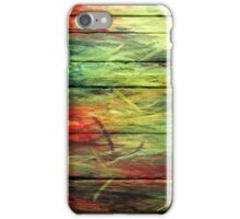 Abstract painted wood #3 iPhone Case/Skin