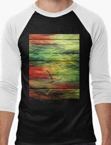 Abstract painted wood #3 Men's Baseball ¾ T-Shirt