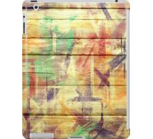 Abstract painted wood #4 iPad Case/Skin