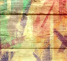 Abstract painted wood #4 Sticker