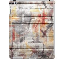 Abstract painted wood #5 iPad Case/Skin
