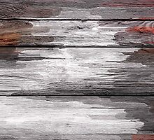 Abstract painted wood #6 by Nhan Ngo