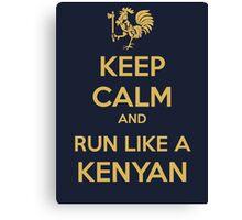 Keep Calm and Run Like a Kenyan - Golden Canvas Print