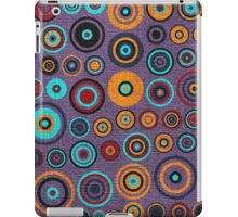 Retro circles painted canvas iPad Case/Skin