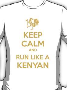 Keep Calm and Run Like a Kenyan - Golden T-Shirt