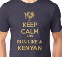 Keep Calm and Run Like a Kenyan - Golden Unisex T-Shirt