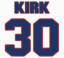 National baseball player Tom Kirk jersey 30 by imsport