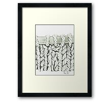 131-knitting Framed Print