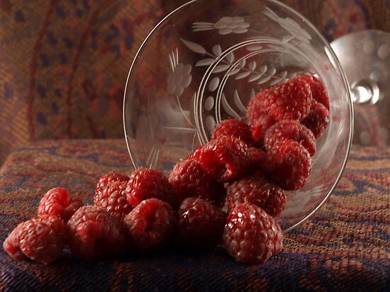GLASS OF RASPBERRIES by Sharon A. Henson