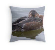 A Pochard Throw Pillow