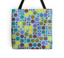Retro polka dot painted canvas #3 Tote Bag
