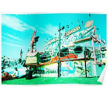 Fairground, bleached Poster