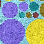 Retro polka dot painted canvas #4 by Nhan Ngo