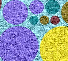 Retro polka dot painted canvas #4 by Nhan Ngo