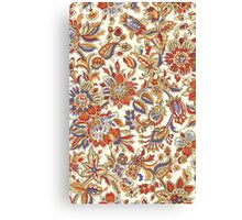Vintage Abstract Floral Pattern Canvas Print