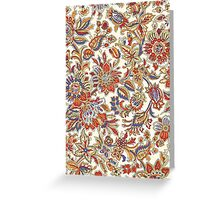 Abstract Flower Pattern Greeting Card