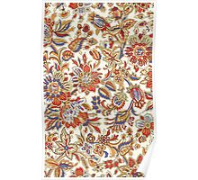 Abstract Flower Pattern Poster