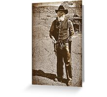 The Gun Slinger Greeting Card