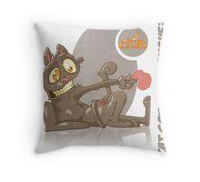 Cat Got Your Tongue? Throw Pillow