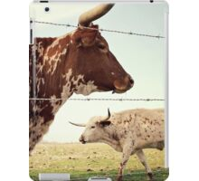 Texas Longhorn Cattle iPad Case/Skin