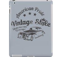 American Pride Vintage Style Hot Rod  iPad Case/Skin