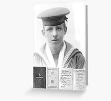 1916 AB Cosky RN Minesweepers Greeting Card