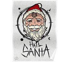 Hail Santa (Dark Fabrics) Poster