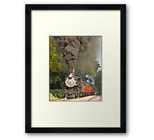 Puffing Away in Strasburg PA © Framed Print