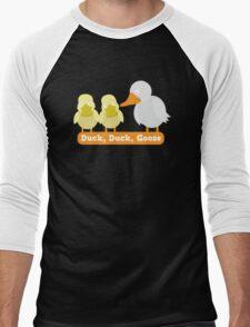 Duck Duck Goose with cute little duckies Men's Baseball ¾ T-Shirt