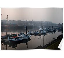 Whitby in the mist Poster