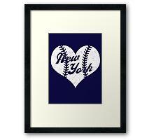 New York Yankees Baseball Heart  Framed Print