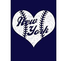 New York Yankees Baseball Heart  Photographic Print