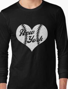 New York Yankees Baseball Heart  Long Sleeve T-Shirt
