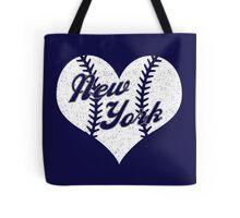 New York Yankees Baseball Heart  Tote Bag
