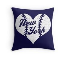 New York Yankees Baseball Heart  Throw Pillow