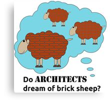 Do architects dream of brick sheep? Canvas Print