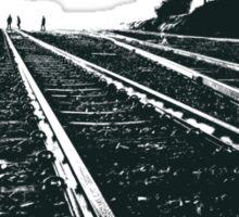 Railway Tracks at sunrise and twilight sky Sticker